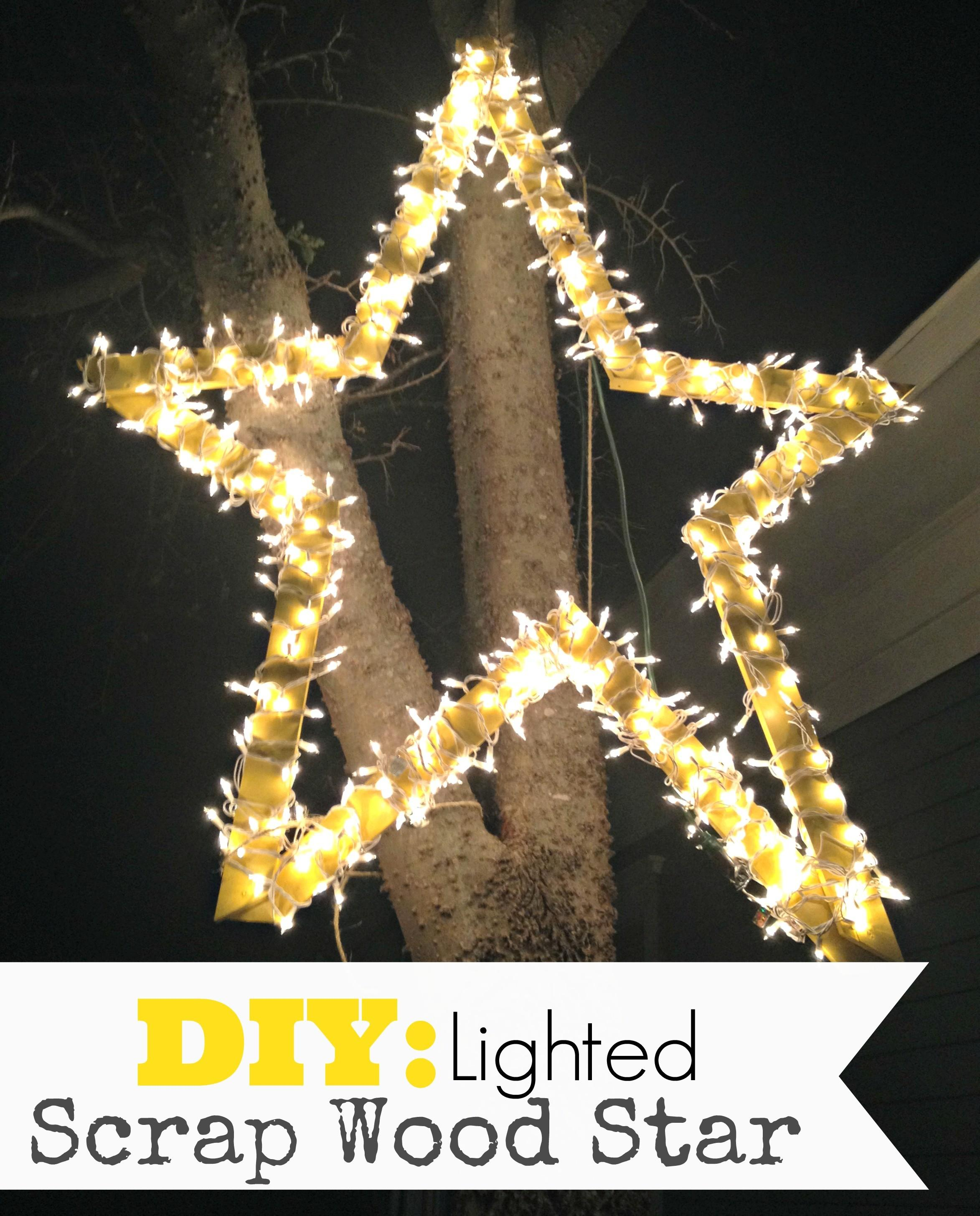 Diy Lighted Scrap Wood Star Upcycled Ugly