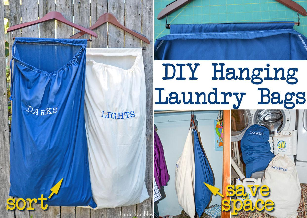 Diy Lights Darks Hanging Laundry Bags Tutorial