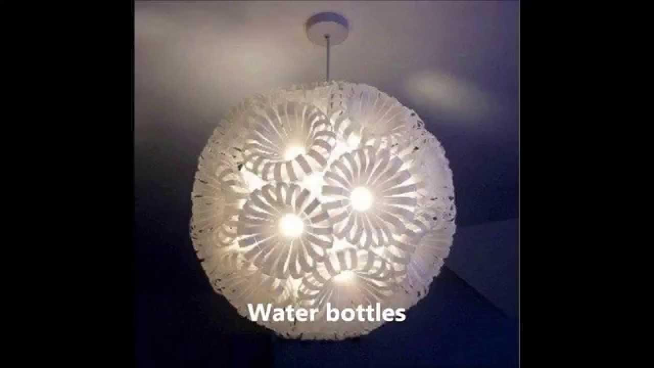 Diy Lights Lamps Recycled Materials