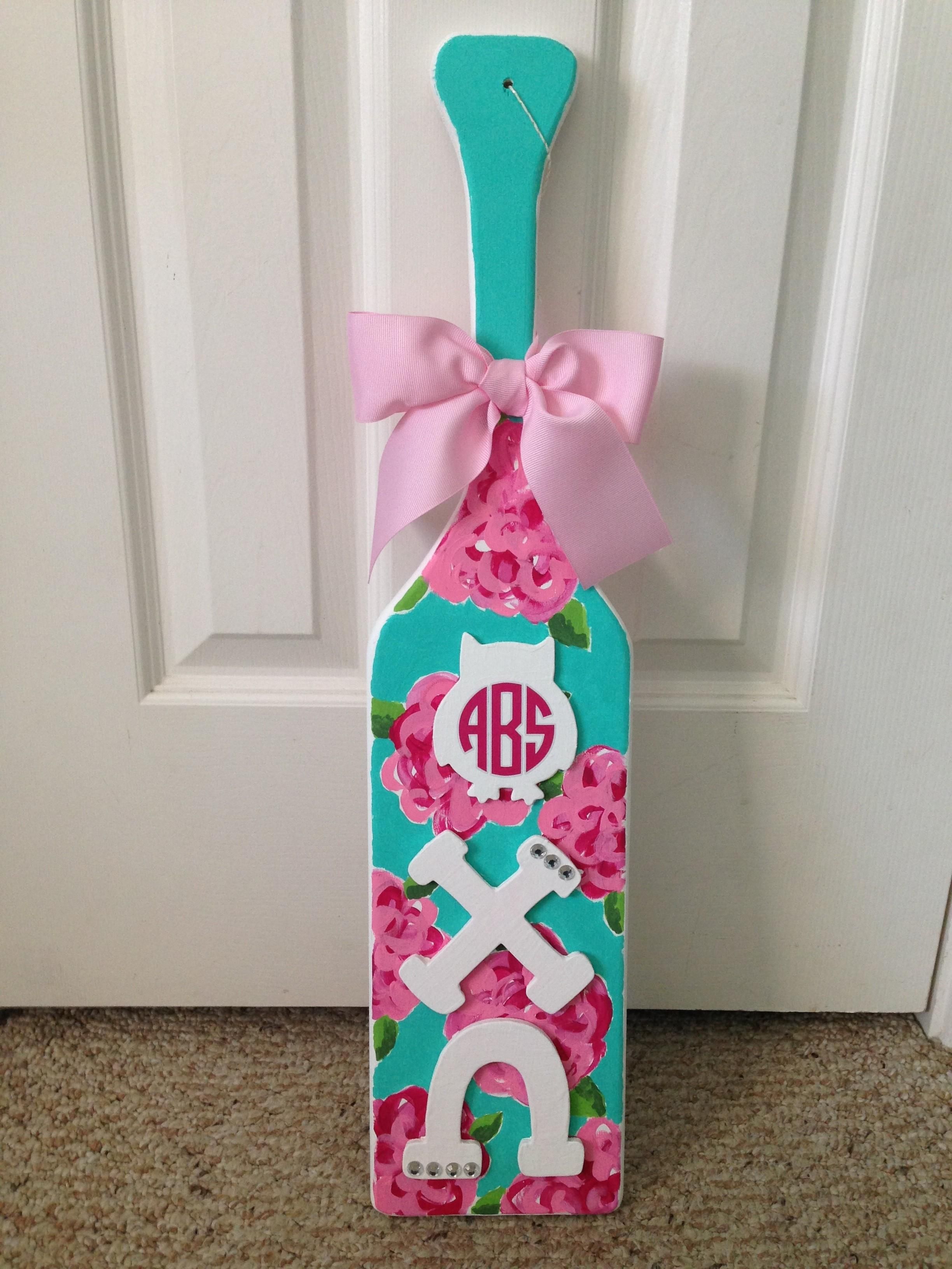 Diy Lilly Pulitzer Paddle