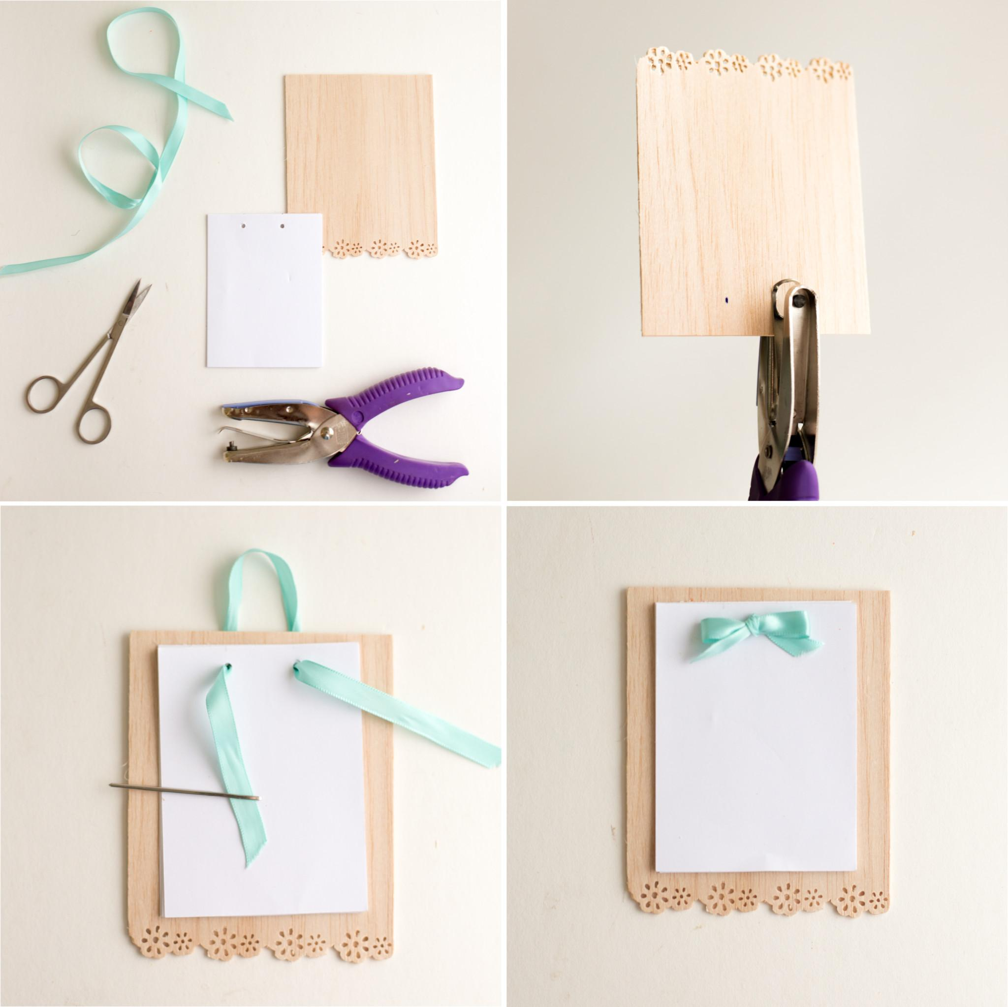 Diy Locker Decorations Wooden Frames Notepad Flax