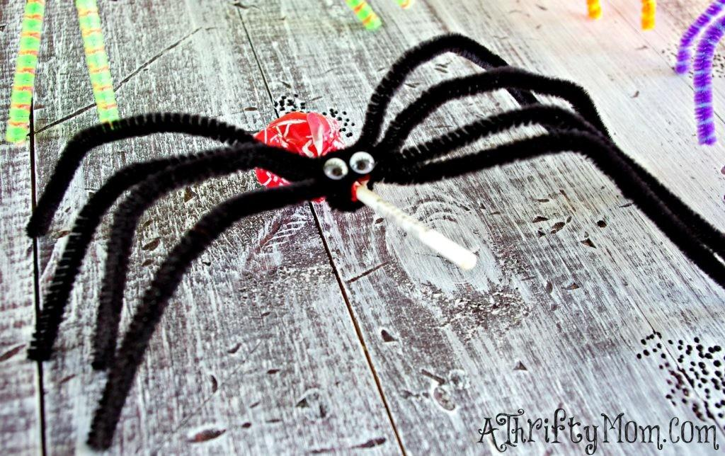 Diy Lollipop Spiders Ghosts Kid Friendly Halloween