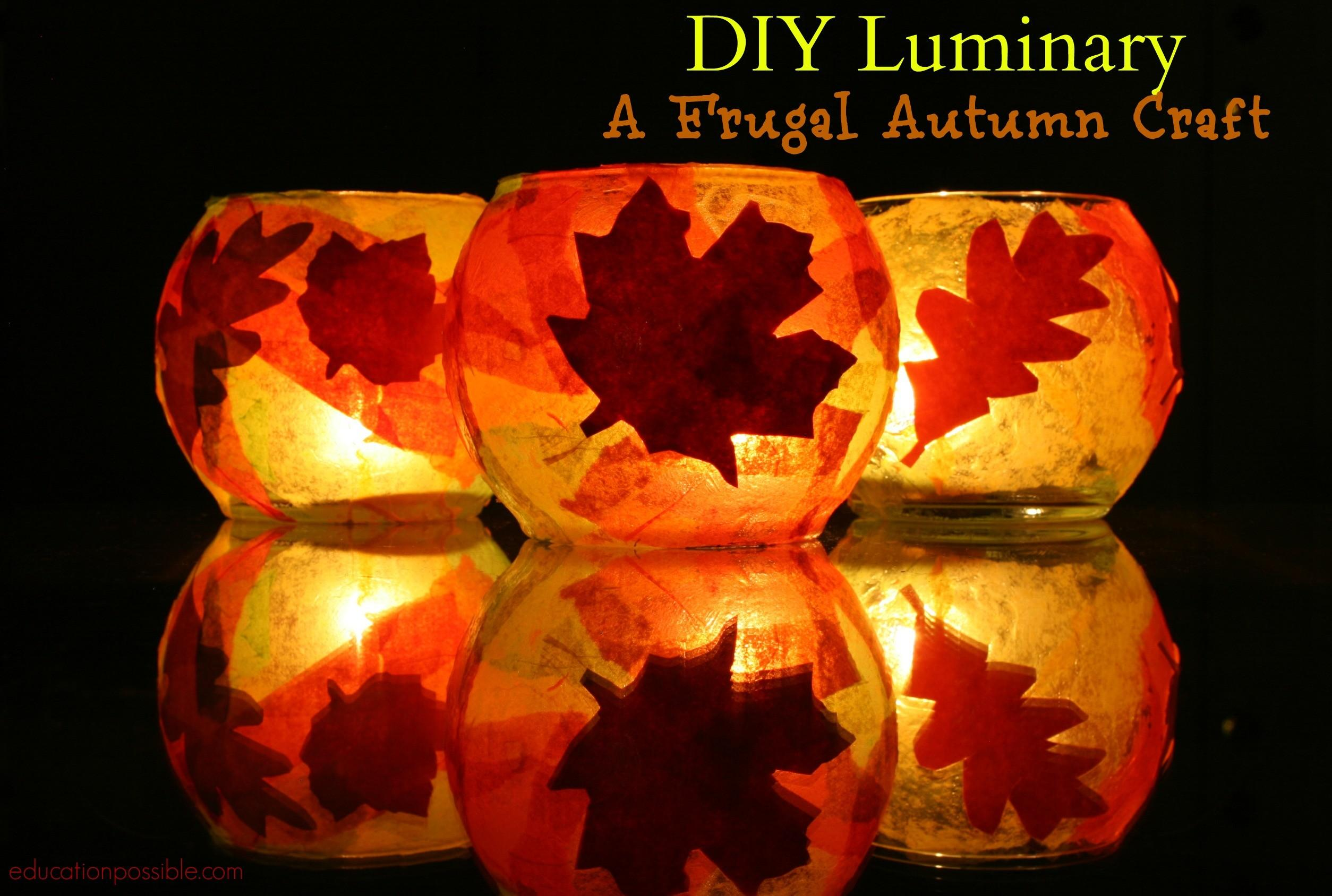 Diy Luminary Frugal Autumn Craft