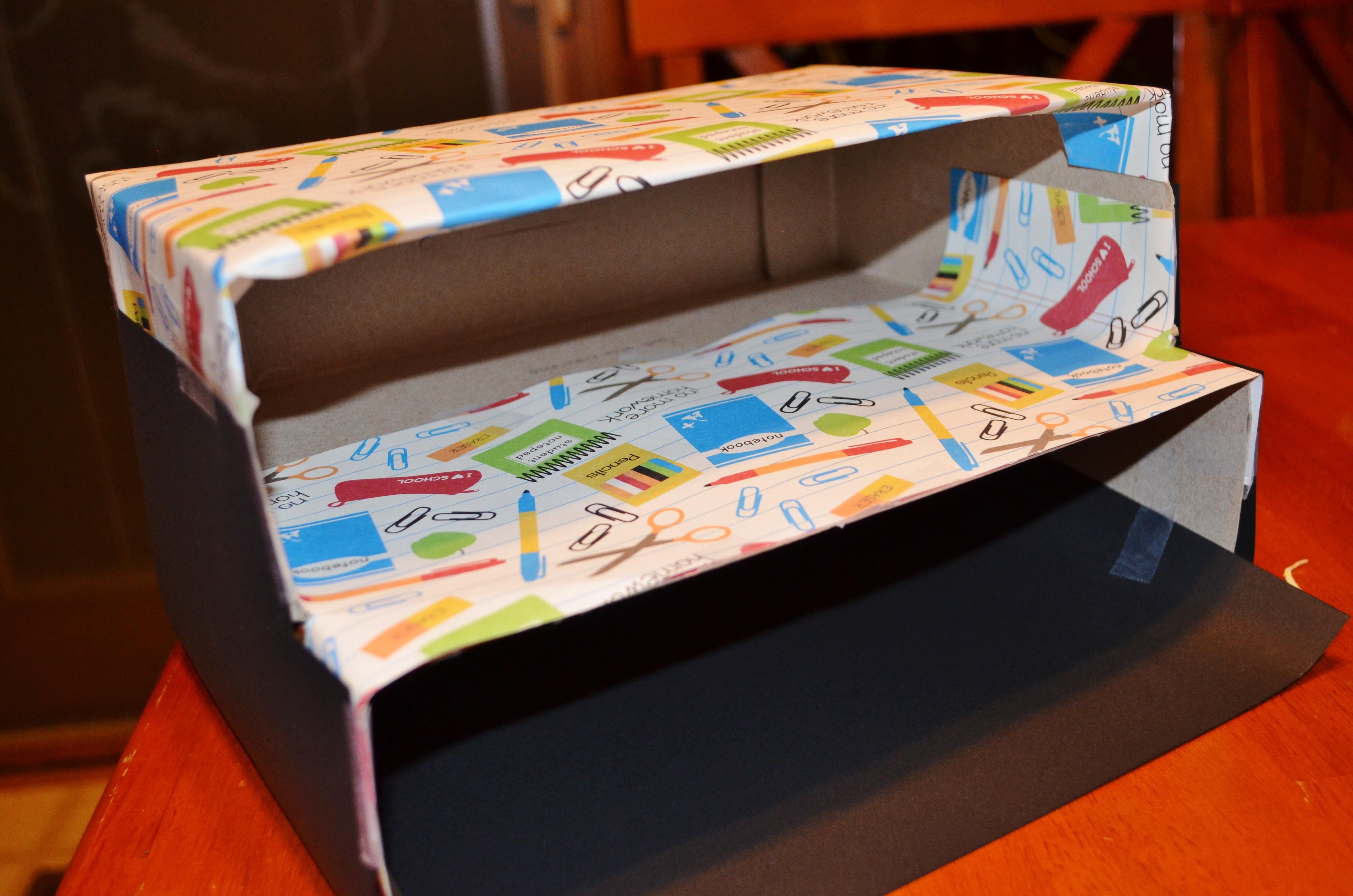 Diy Magazine Holder Cereal Box Desk Organization