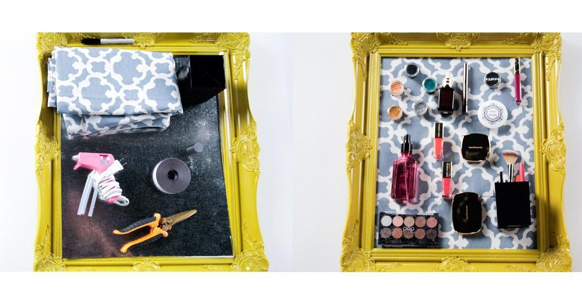 Diy Magnetic Makeup Board Organizer Popsugar Beauty