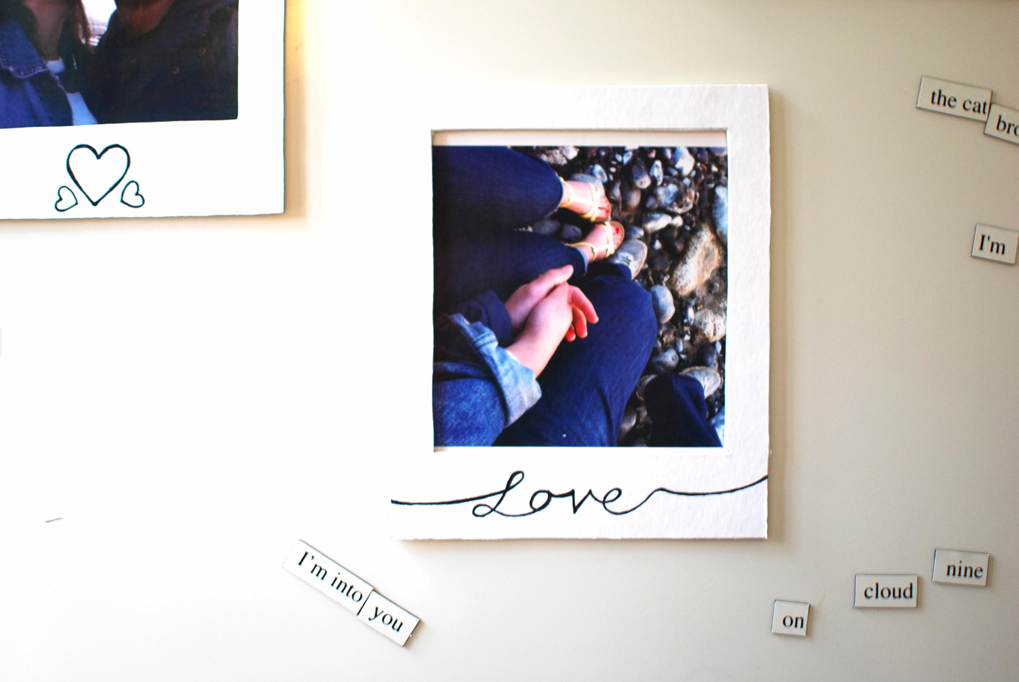 Diy Magnetic Polaroid Frames Chambray Curls