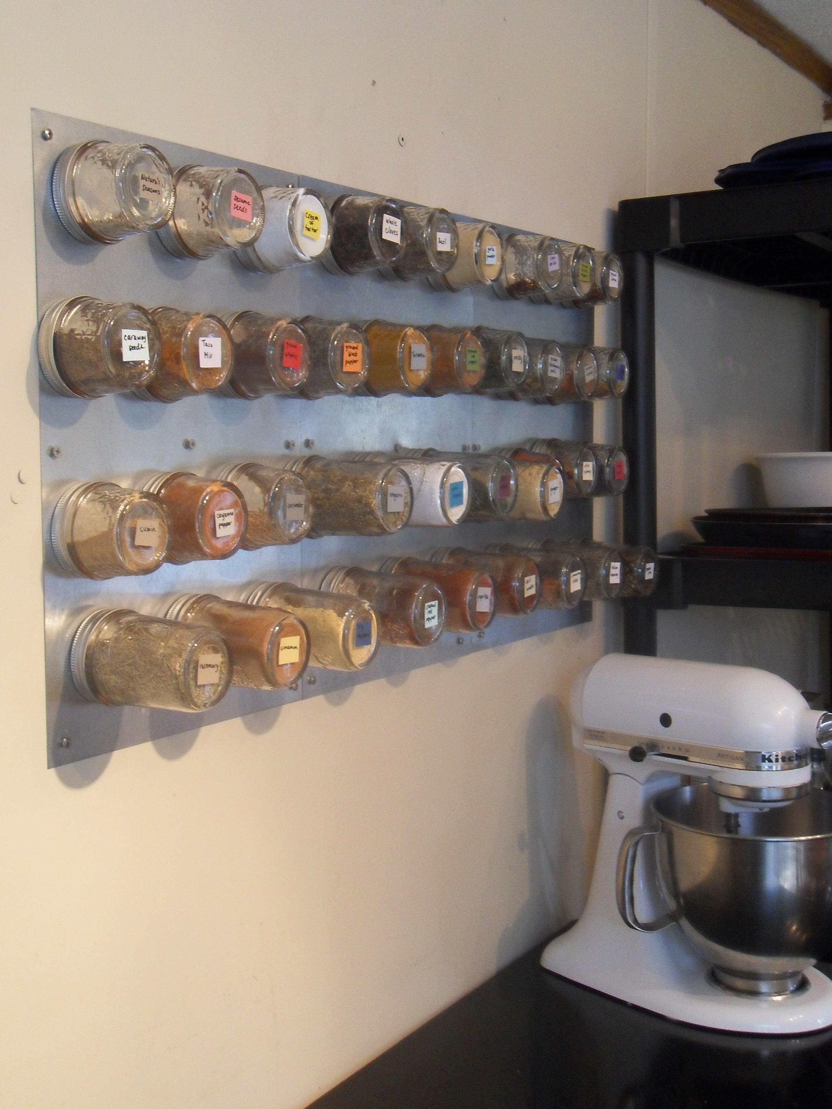 Diy Magnetic Spice Rack Never Such Devoted Sisters