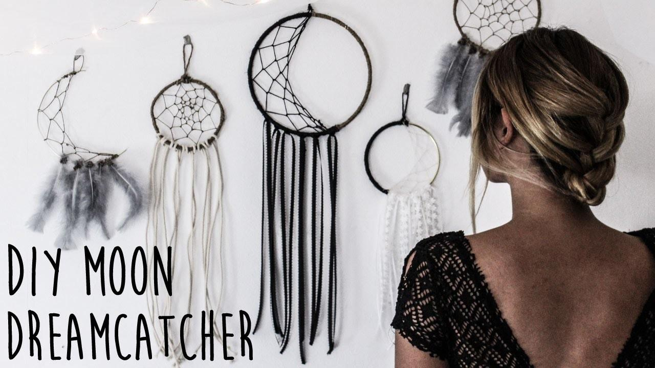Diy Make Crescent Moon Dreamcatcher