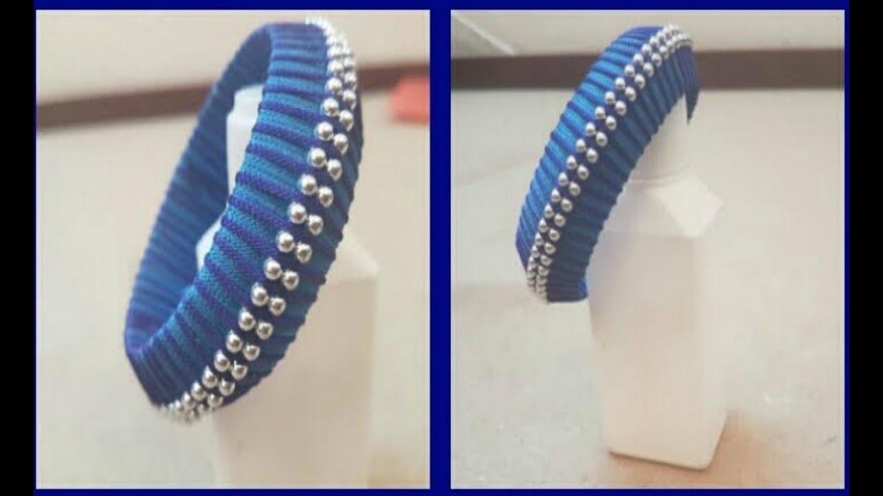 Diy Make Double Pearl Thread Wrap Bangle