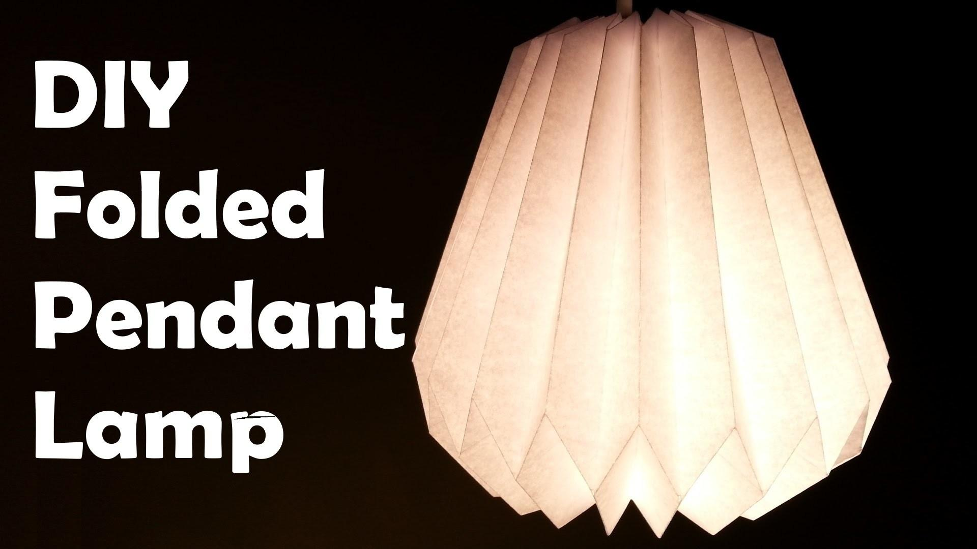 Diy Make Folded Paper Pendant Lamp Shade