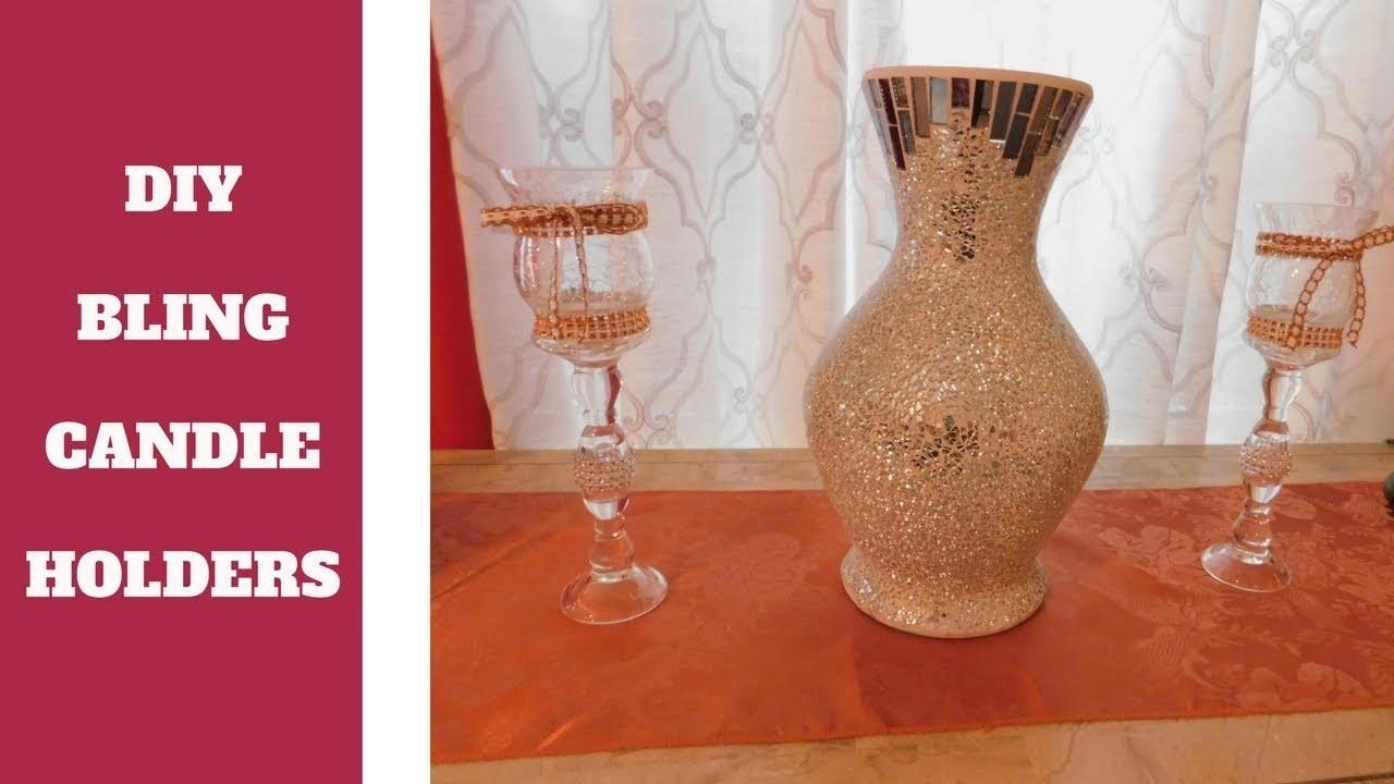 Diy Make Glam Candle Holders Rustic Twist