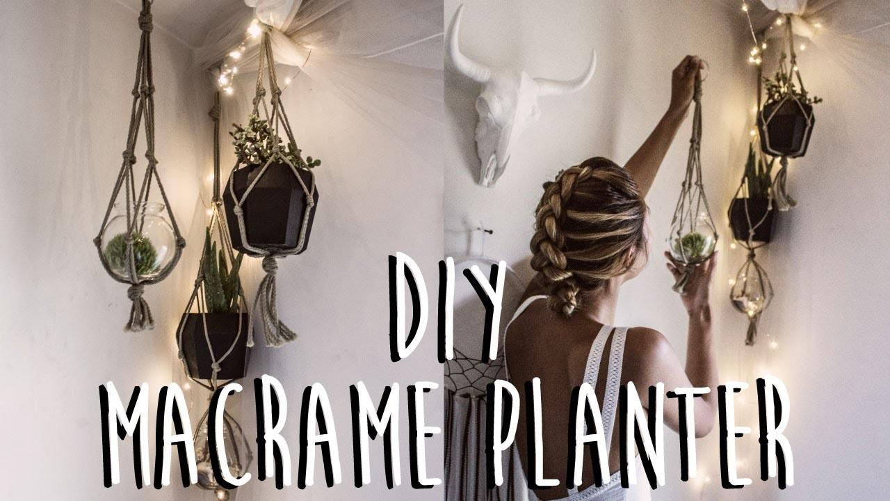 Diy Make Macrame Plant Hanger