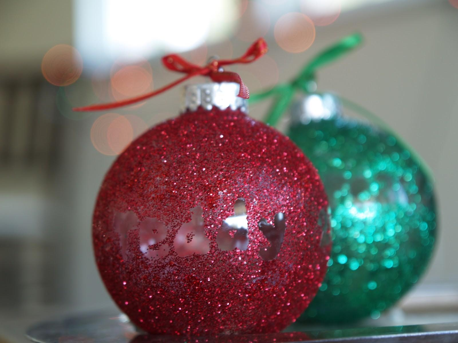 Diy Make Personalized Glitter Ornament