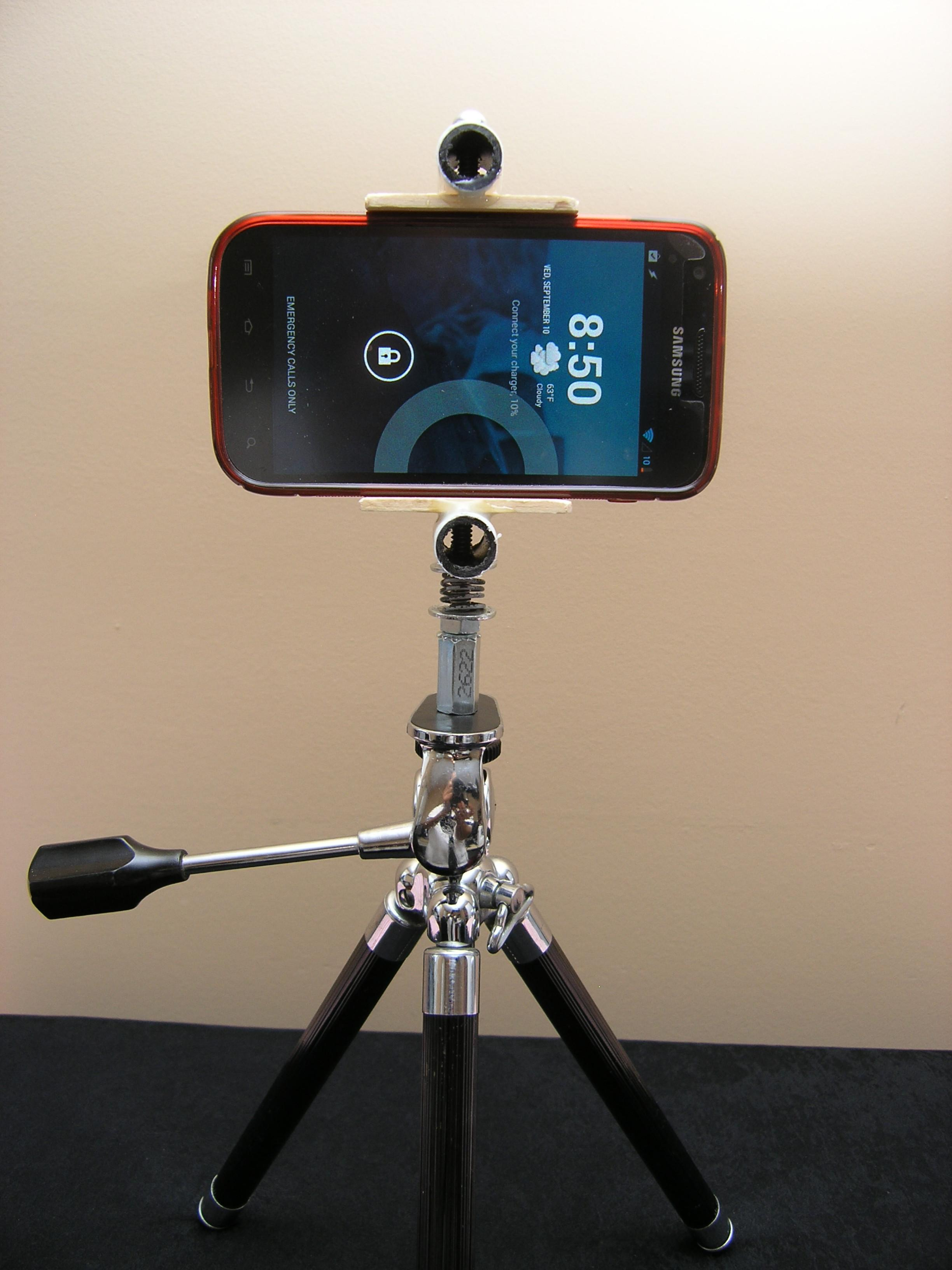 Diy Make Your Own Smartphone Tripod Mount Iphone