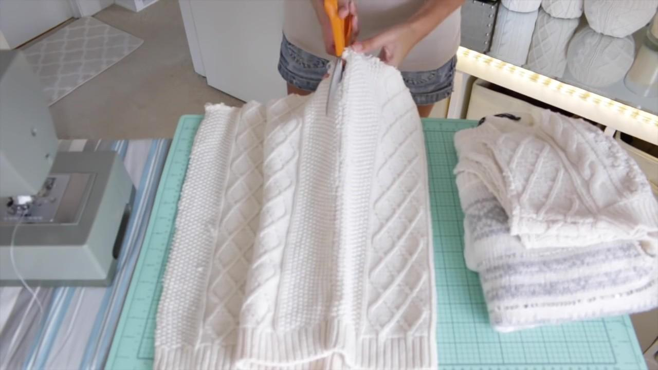 Diy Make Your Own Sweater Pillows Just Few Simple