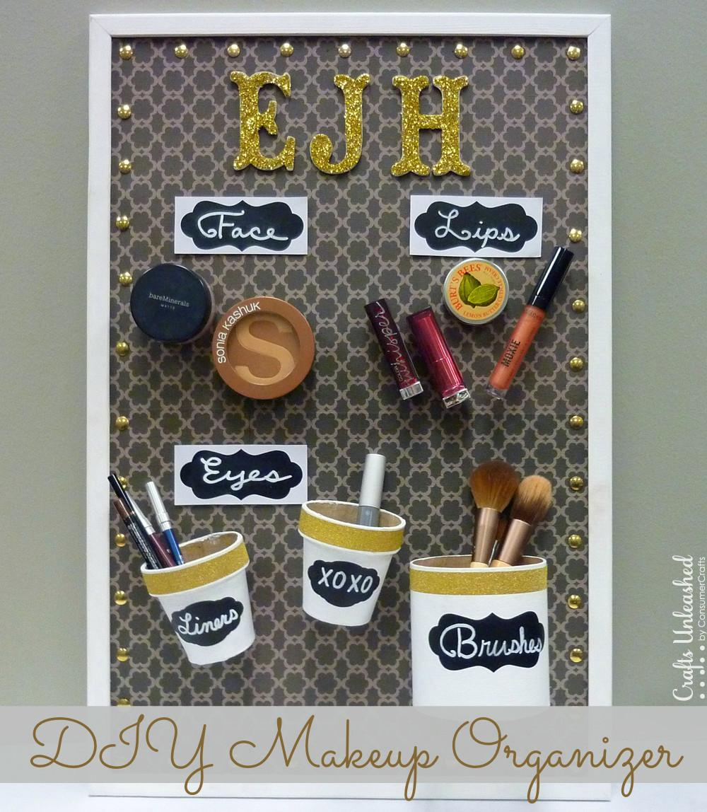 Diy Makeup Organizer Magnet Board Fun Convenienct