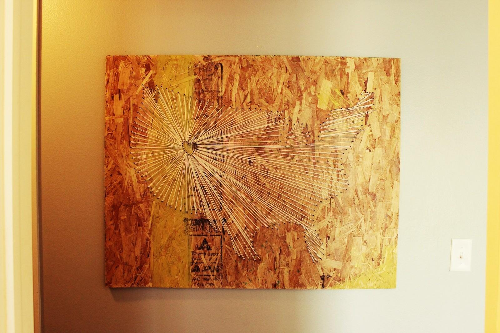 Diy Map String Art Industrial Vibe