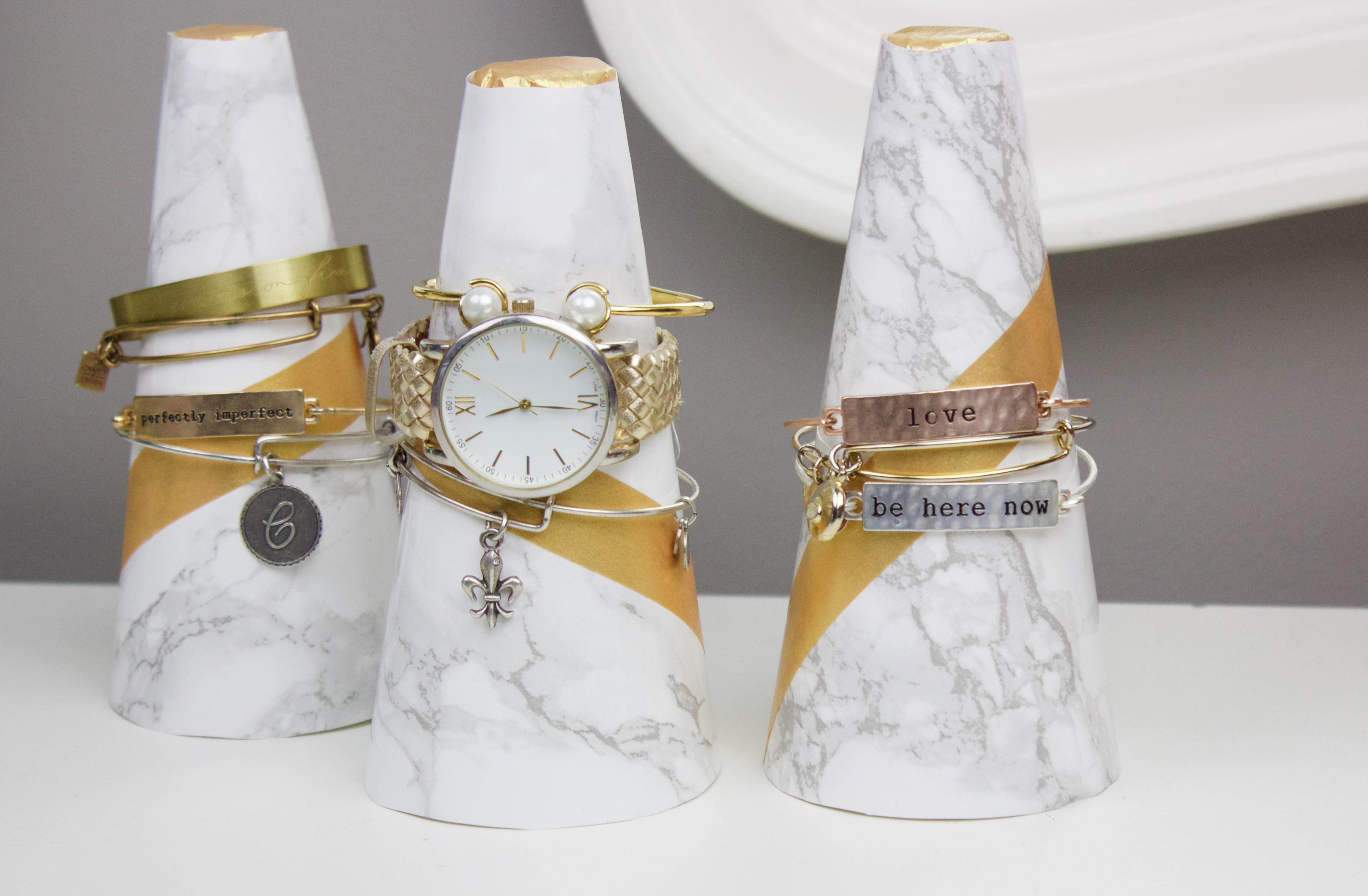 Diy Marble Cone Bracelet Holders Little Craft Your Day