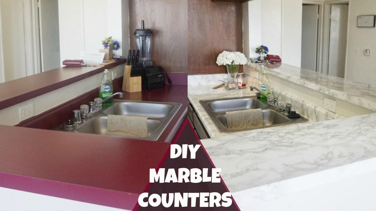Diy Marble Counters Revamp Your Apartment Kitchen