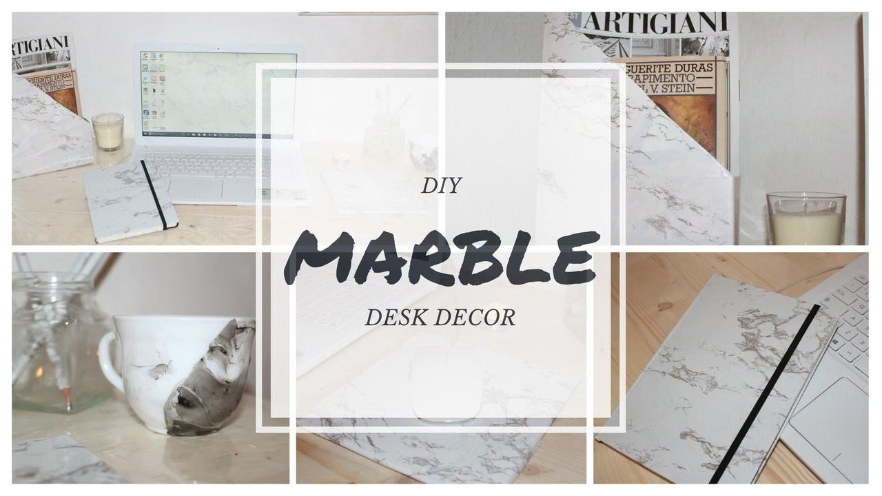 Diy Marble Desk Decor 2017 Crafts Projects