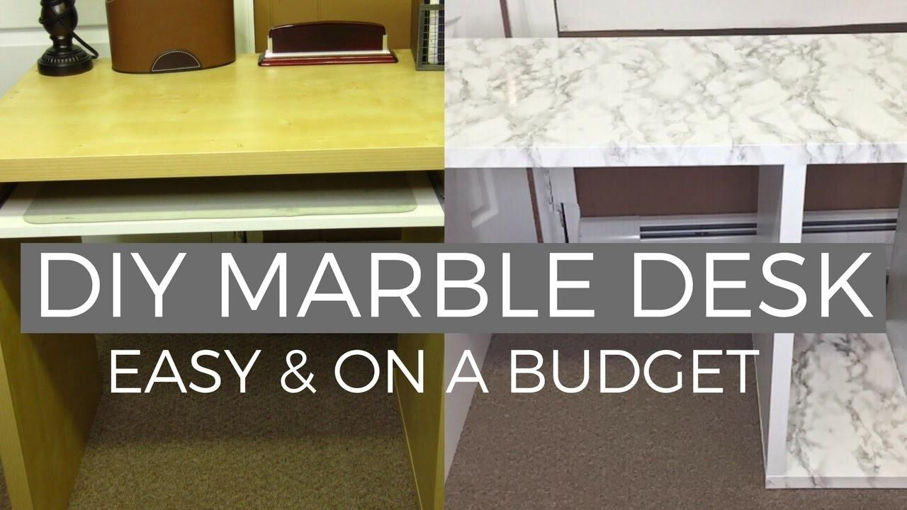 Diy Marble Desk Makeover Affordable Easy Hack
