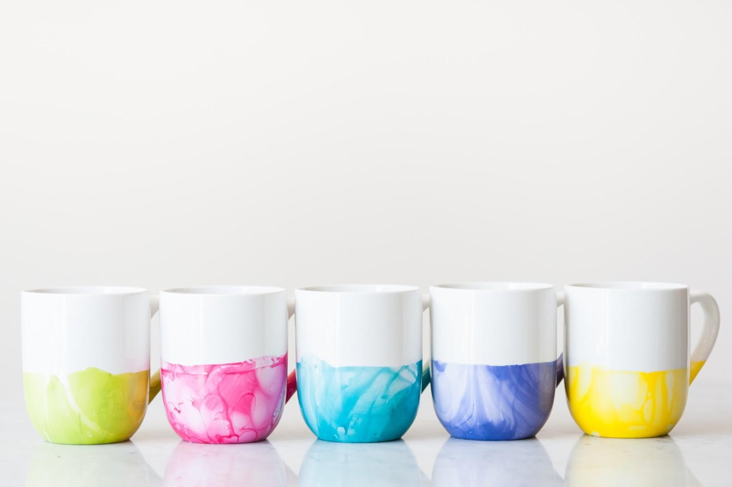 Diy Marble Dipped Mugs Sweetest Occasion