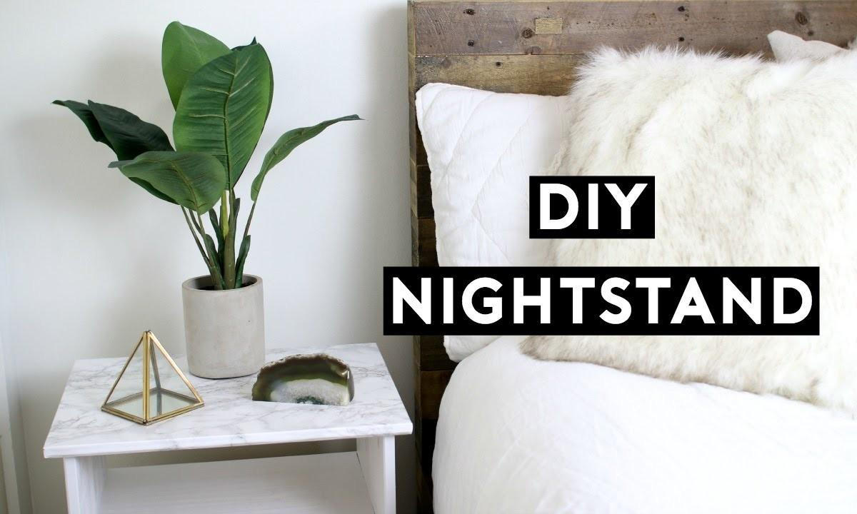 Diy Marble Nightstand Affordable Room Decor Simple