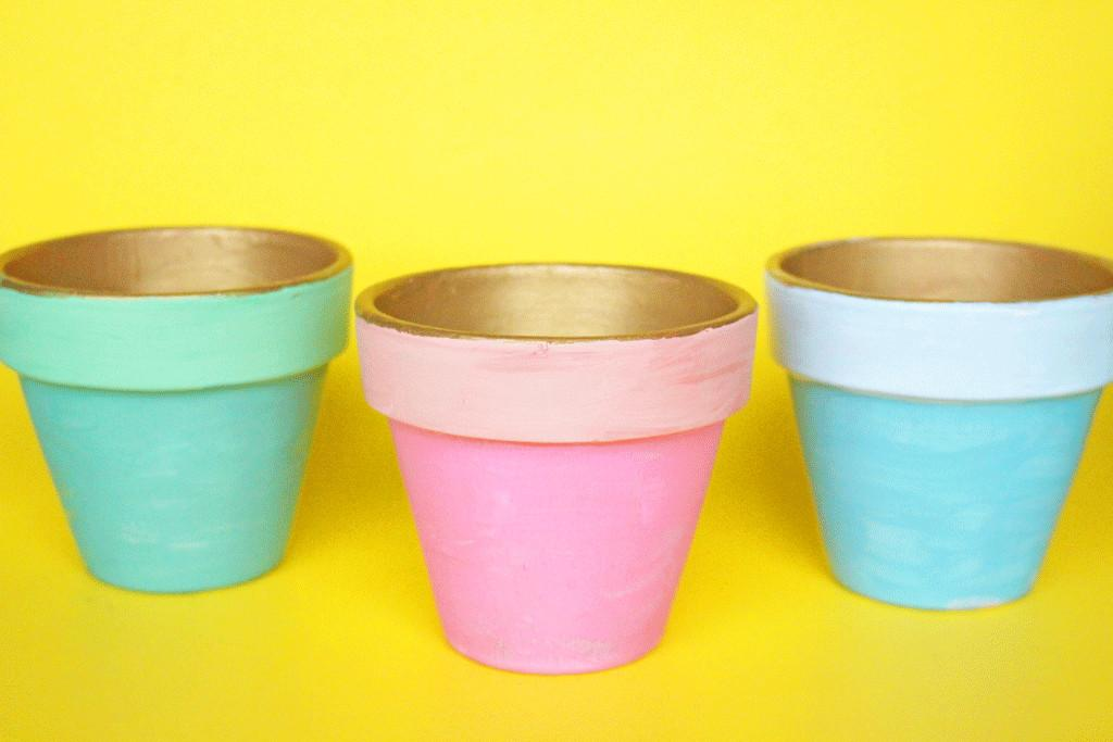 Diy Marble Planters Crafting Chicks
