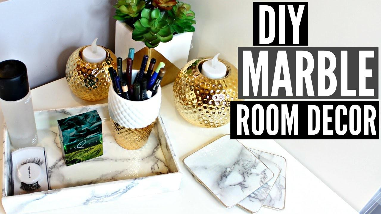 Diy Marble Room Cor Tumblr Inspired Easy Cheap