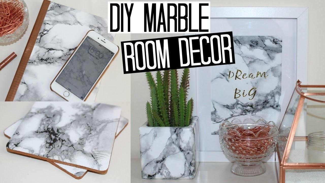 Diy Marble Room Decor Easy Affordable