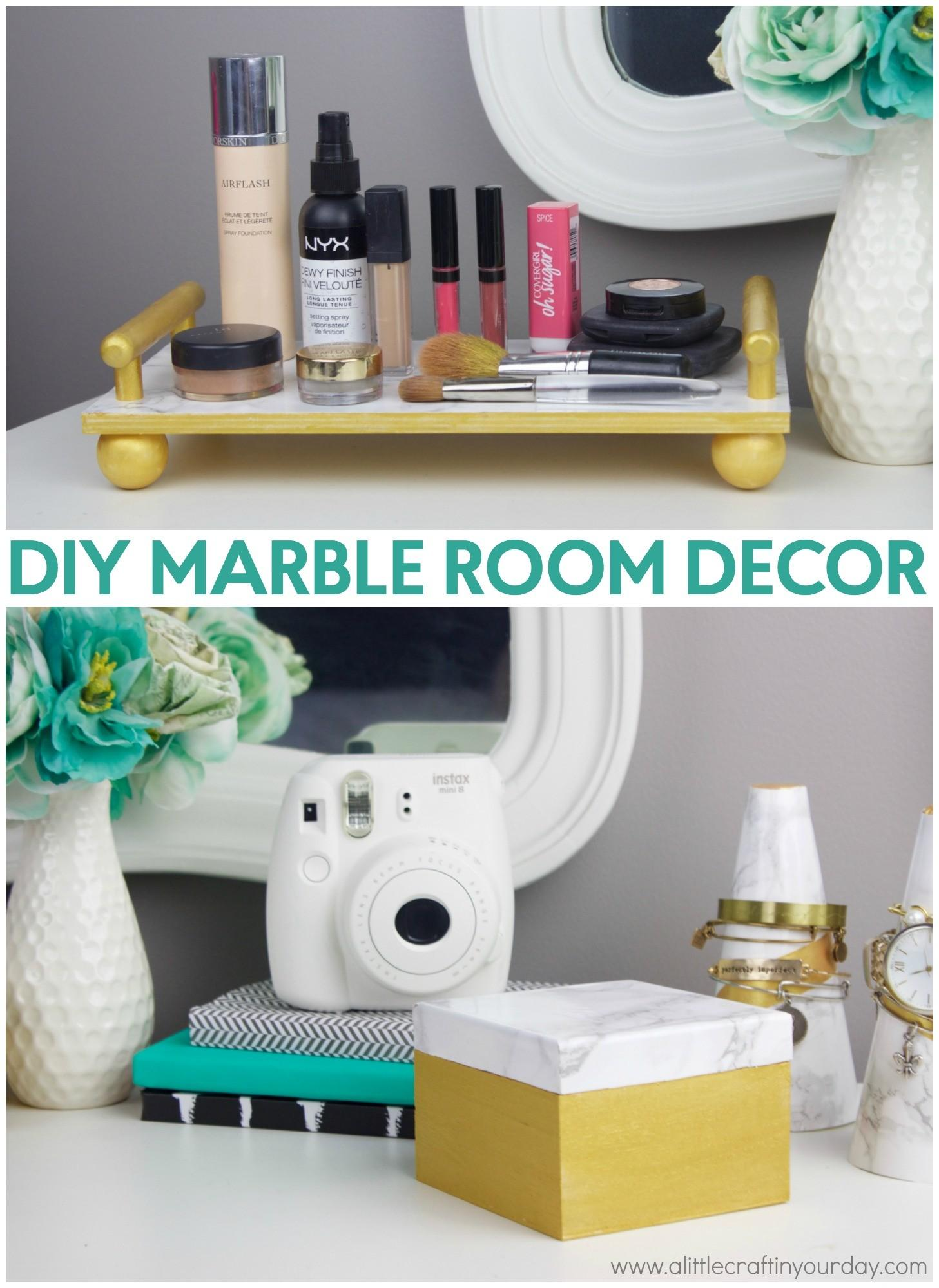 Diy Marble Room Decor Little Craft Your Day