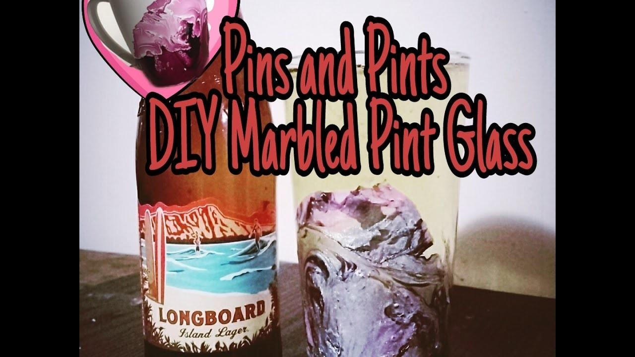 Diy Marbled Pint Glasses Crafts Projects