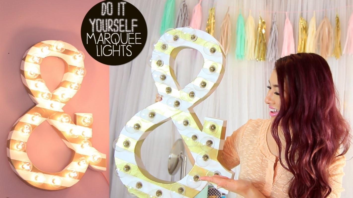 Diy Marquee Lights Godening