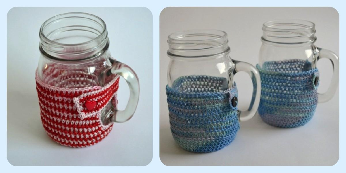 Diy Mason Jar Mug Cozies Pattern Fillmore Container