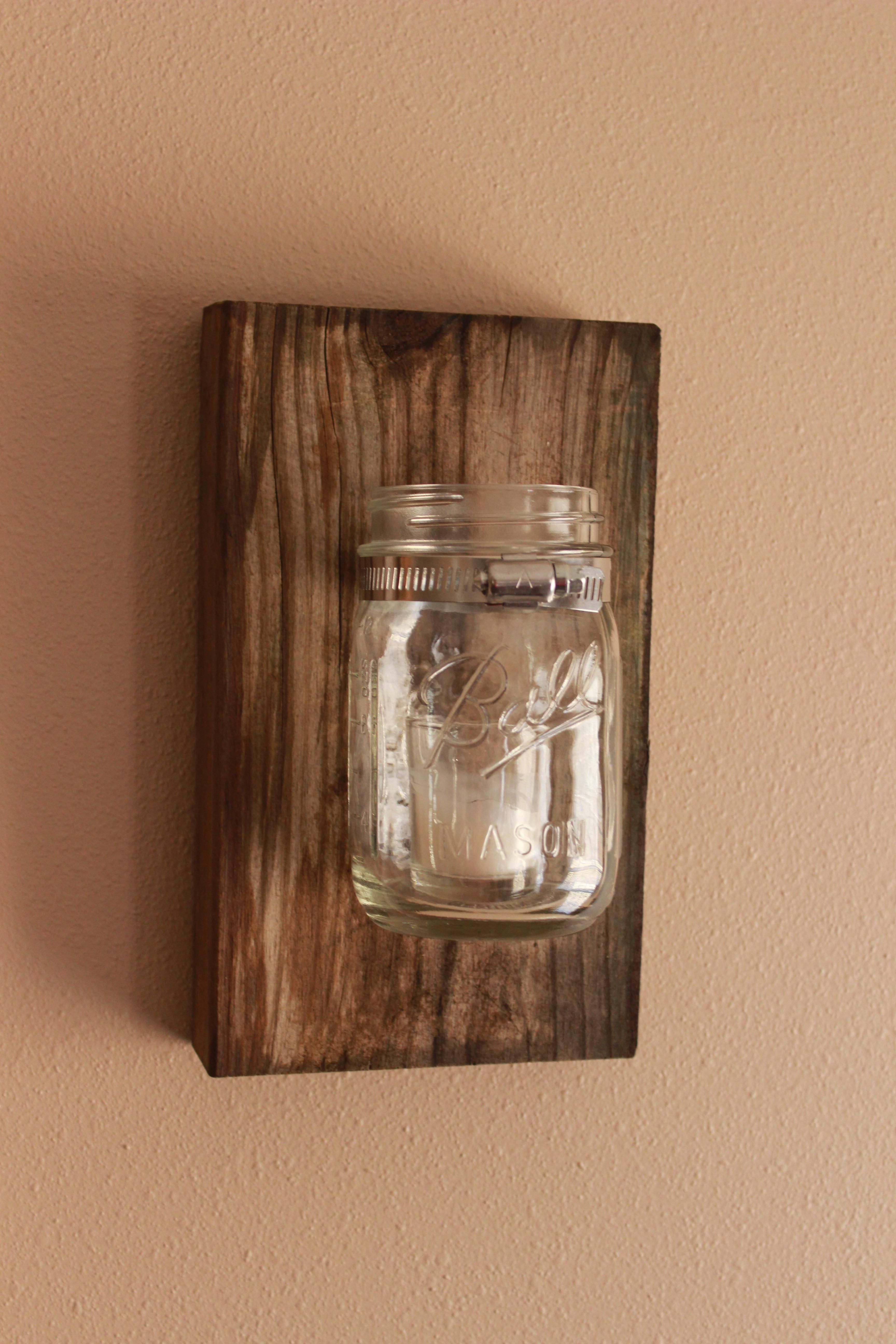 Diy Mason Jar Wall Decor Hamby Home
