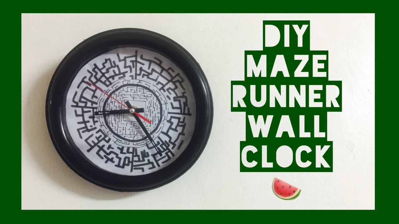 Diy Maze Runner Wall Clock Stuffs Series