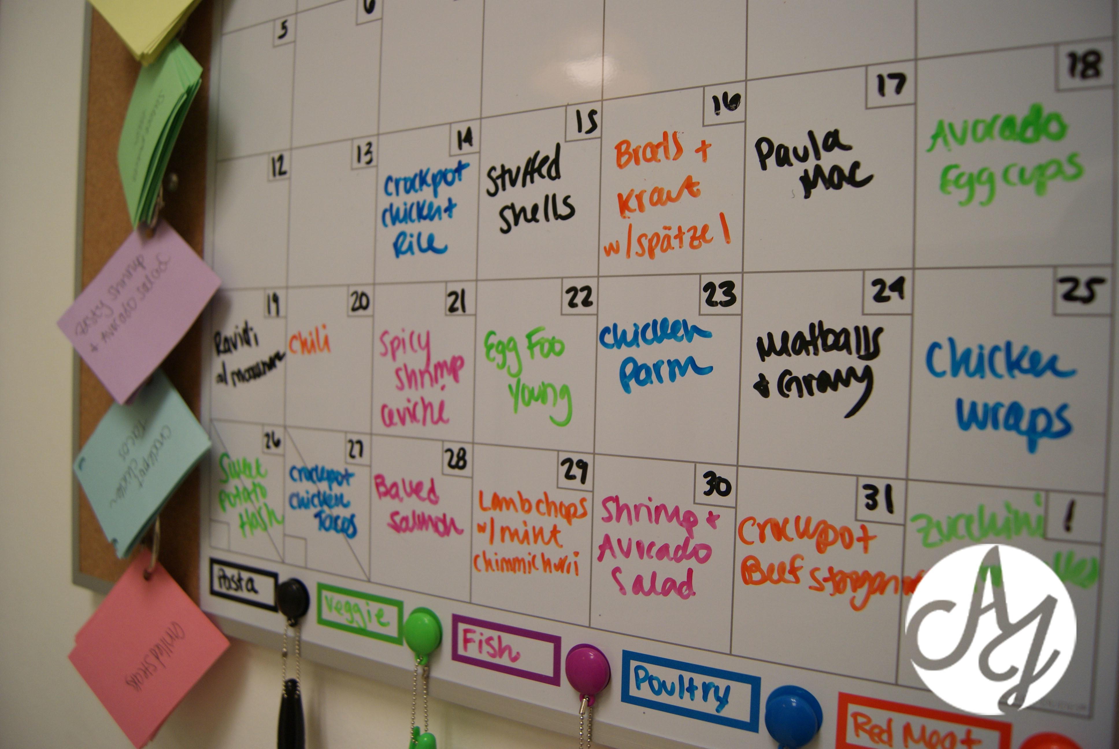 Diy Meal Planning Board Ally Jean Blog