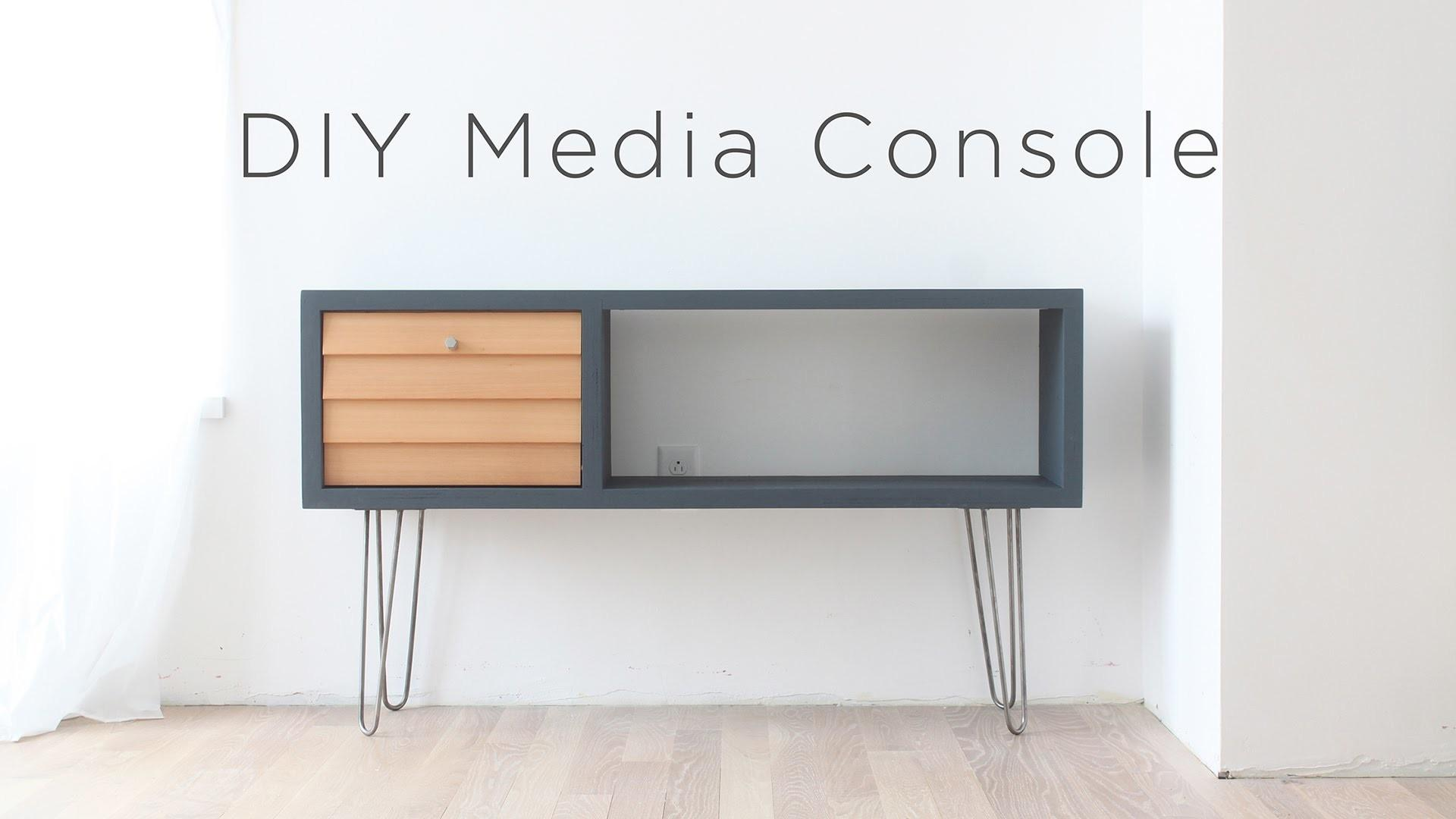 Diy Media Console Mid Century Modern Inspired