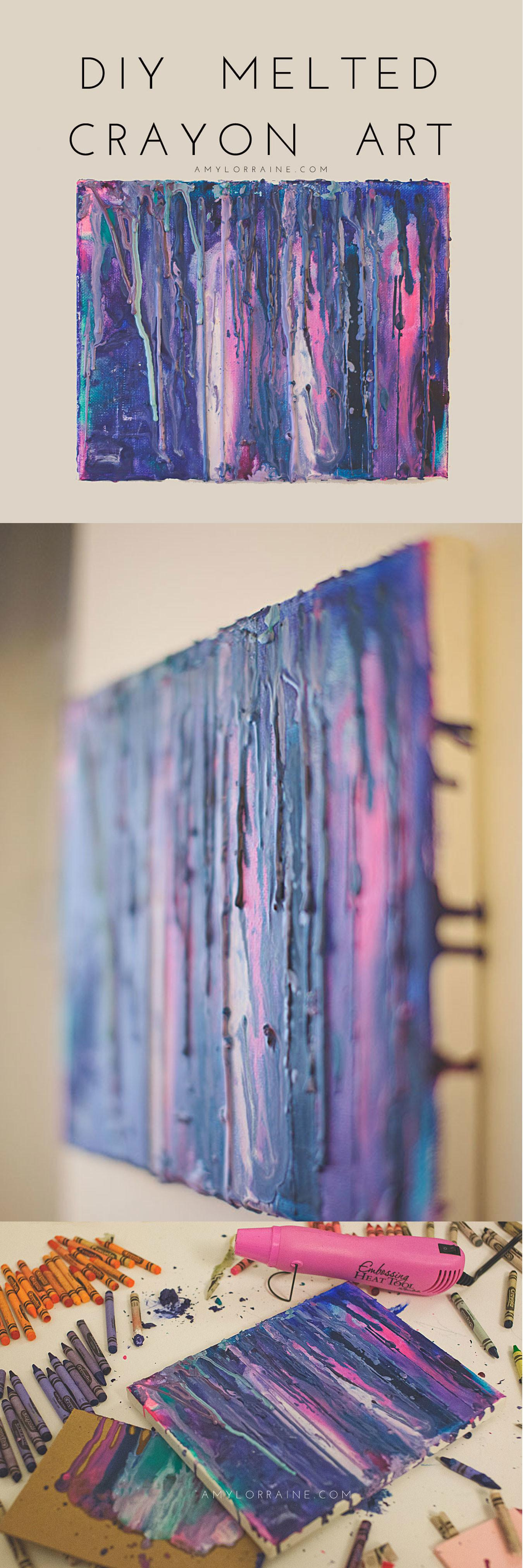 Diy Melted Crayon Art Amy Lorraine Lifestyle