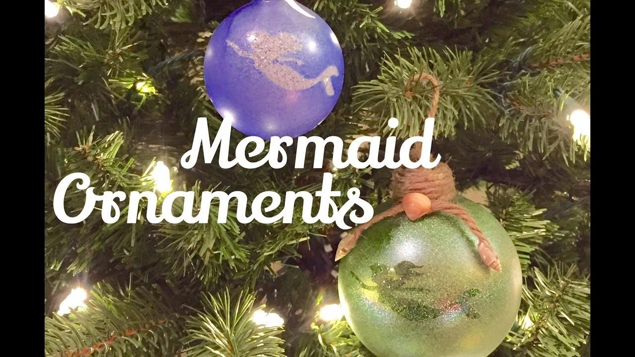 Diy Mermaid Ornaments Glitter Christmas