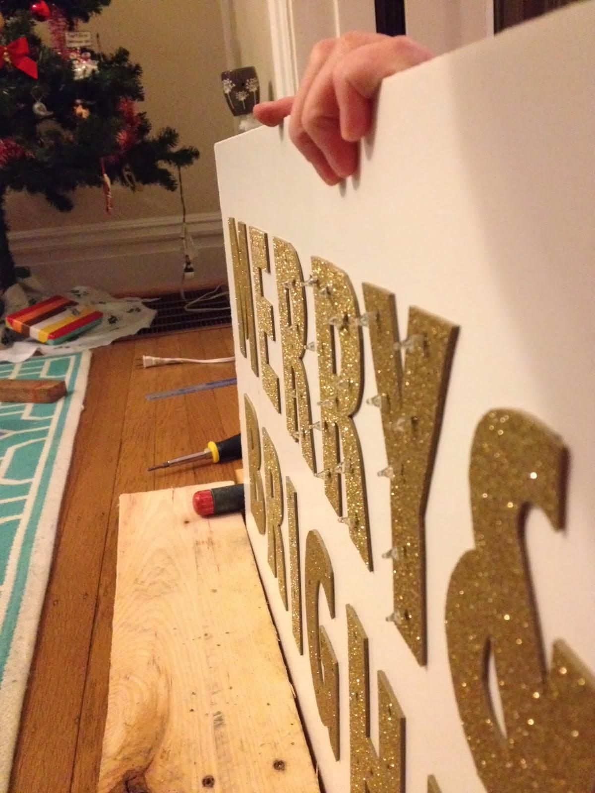 Diy Merry Bright Marquee Surznick Common Room