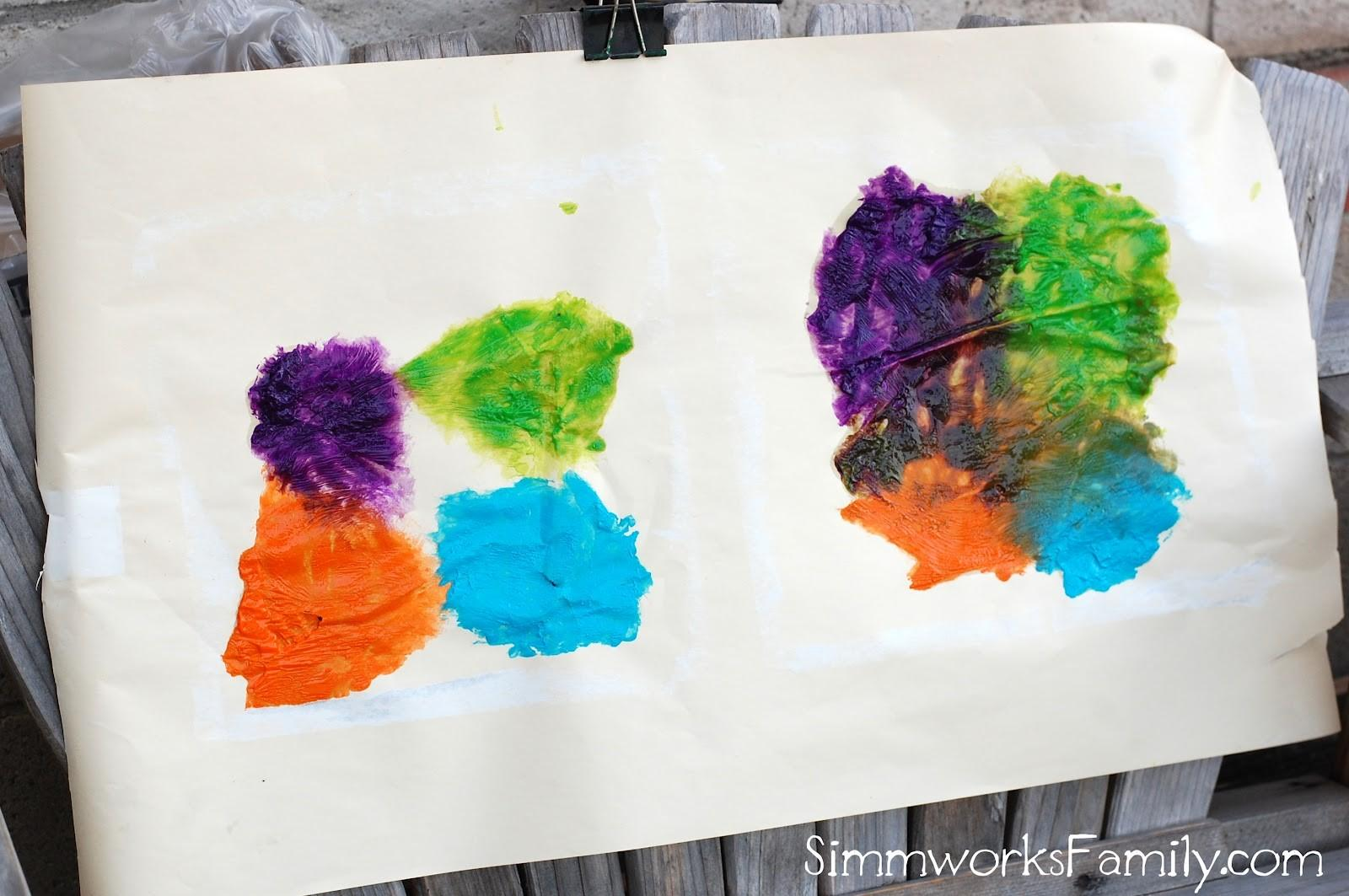 Diy Mess Finger Paint Crafty Spoonful