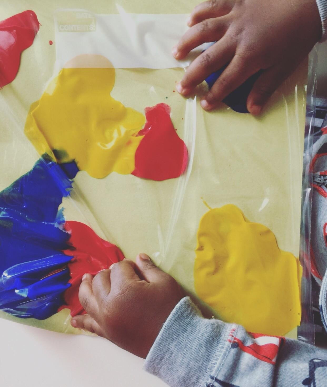 Diy Mess Finger Painting