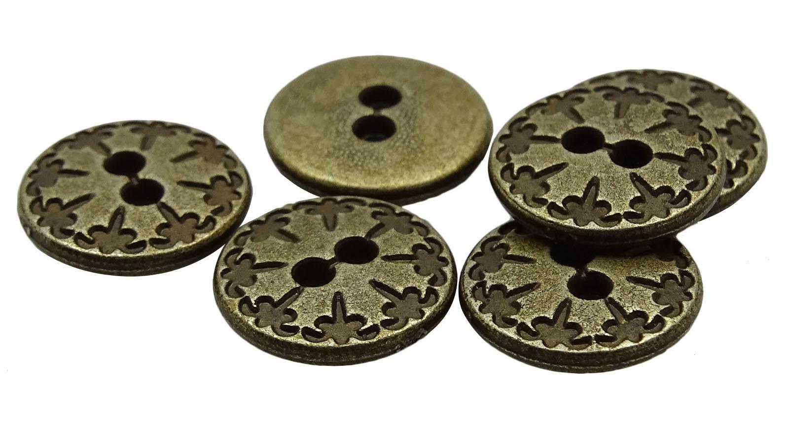 Diy Metal Craft Sewing Accessories Wholesale Round Buttons