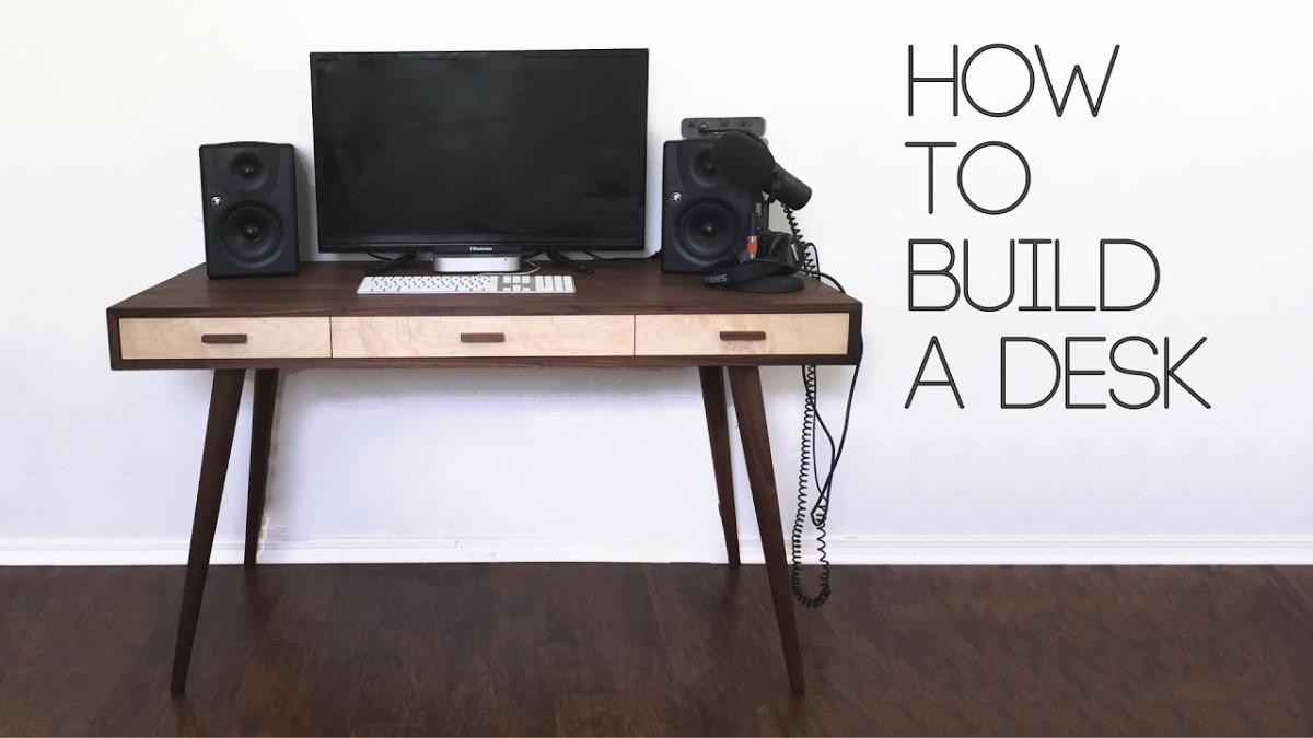 Diy Mid Century Modern Desk Builds