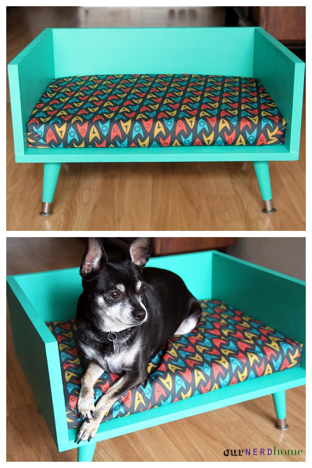 Diy Mid Century Style Pet Bed Touch Star Trek