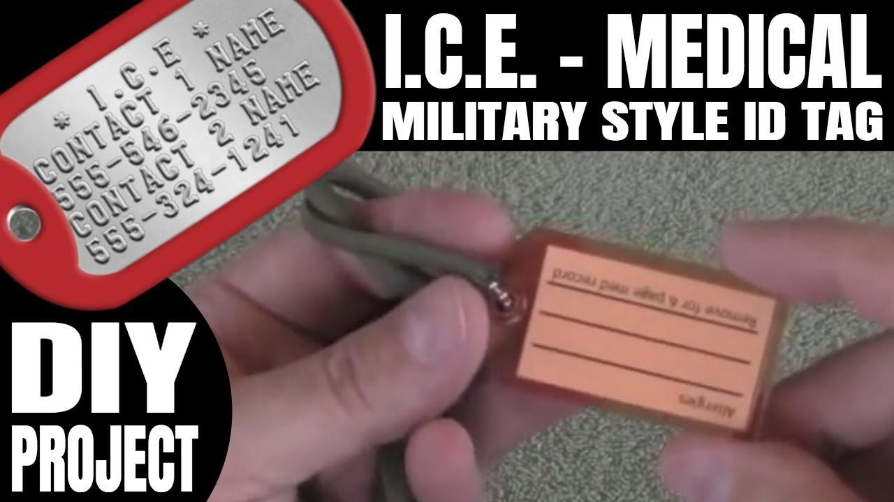 Diy Military Dog Tag Style Med