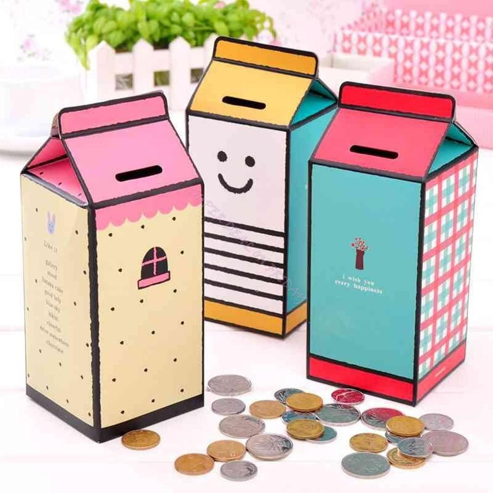 Diy Mini Bank Money Saving Coin Container Paper