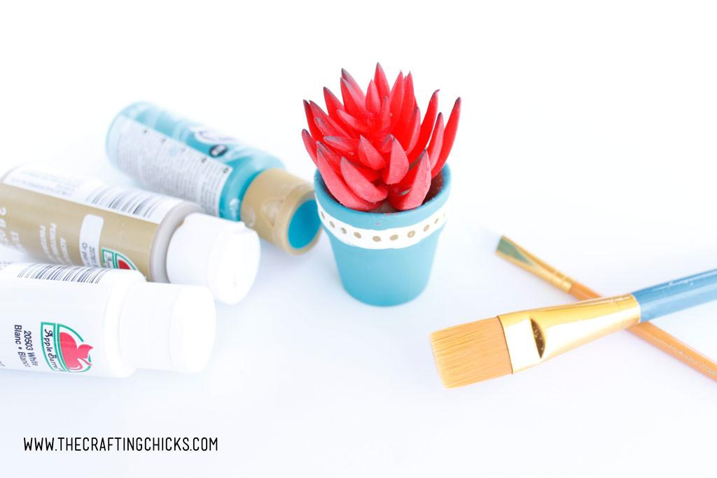Diy Mini Painted Succulent Pots Crafting Chicks