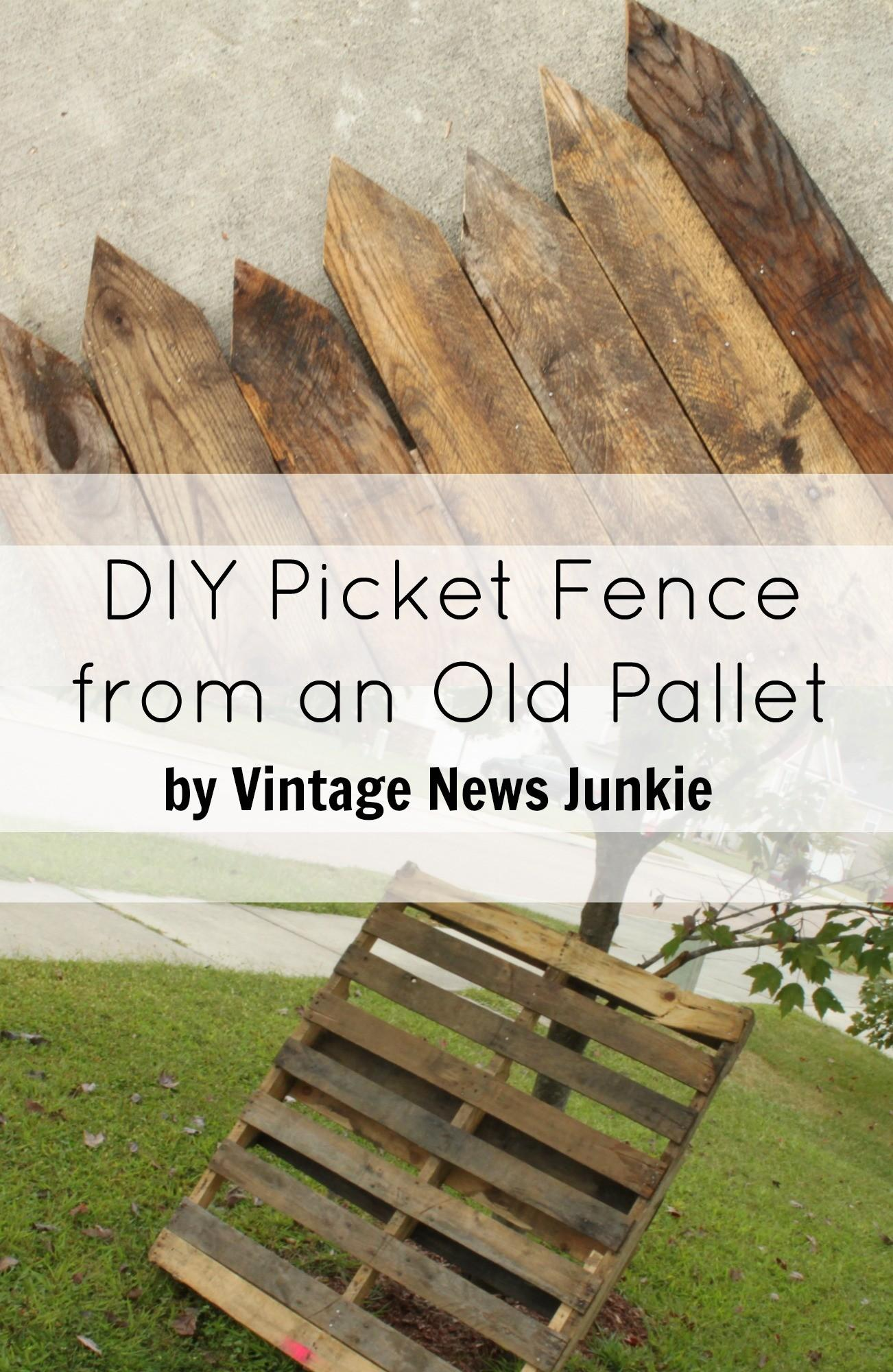 Diy Mini Picket Fence Old Pallet